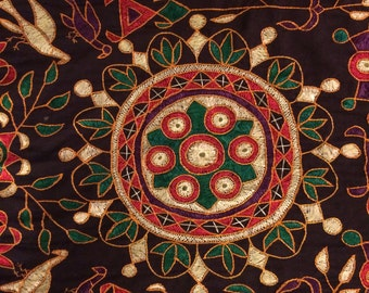 Stunning Hand Embroidered Vintage Textile/Wall Hanging Mandala From India
