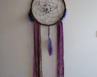 Large purple and brown dreamcatcher