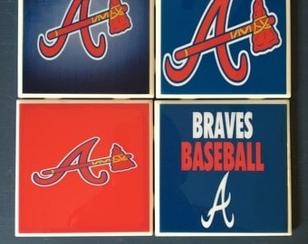 Atlanta Braves coaster set