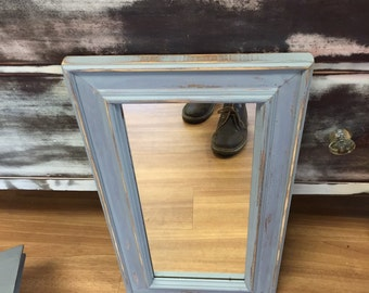 Distressed gray mirror