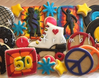 Disco themed cookies