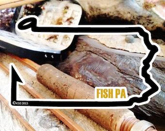 Fish Pennsylvania Sticker - Idahook Series