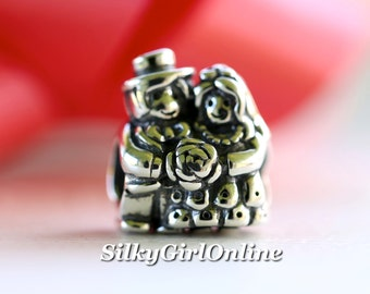 Authentic Pandora Charm Mr And Mrs Bride and Groom #791116