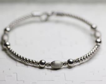 Sterling Silver Beaded Bangle, Bracelet