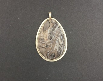 Jasper Necklace / Pendant in Sterling silver 16045