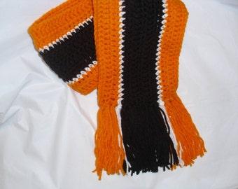 Womens Cleveland Browns Brown/Orange Scarf