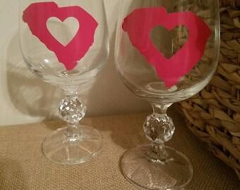South Carolina Charm wine glasses (set of 2)