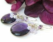 Amethyst Earrings, Short Dangle, Handmade Earrings, Purple Earrings, Gemstone Earrings, Handcrafted Jewelry, Unique Earrings, Gift for Her