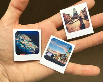 Tiny retro style custom photo magnets made with your own pictures (4x4.5cm) - they make the perfect Father's Day gift!