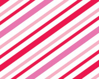 Riley Blake Christmas Candy Pink Stripe - 1 yard