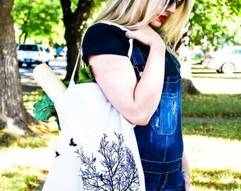 Crows in Tree Market Bag