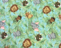 Monkey Flannel. Animal Flannel Fabric. Green Flannel Fabric. Jungle Flannel. Zoo Flannel. Hippo Fabric. Palm Tree Fabric. Tiger Fabric.