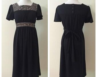 1970s Vintage Little Black Dress