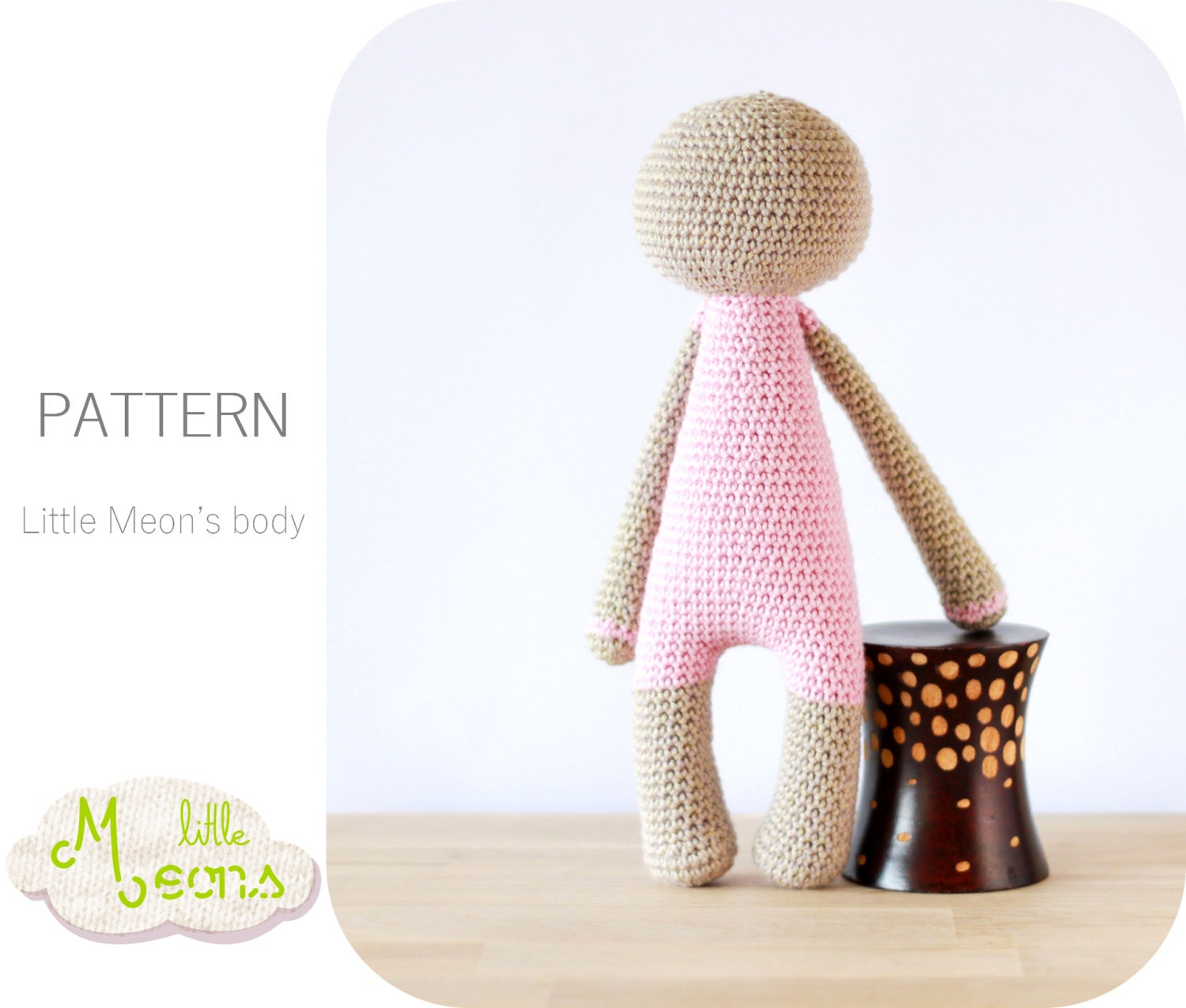 Crochet Pattern Human Doll : Crochet PATTERN Body of a Little Meon Amigurumi pattern