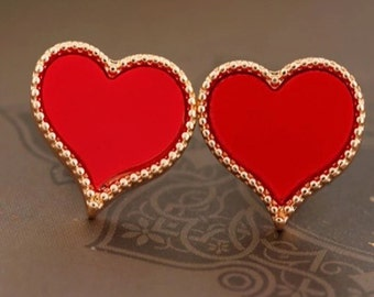 Valentine's Day Heart Stud Earrings