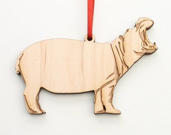 Bellowing Hippopotamus Ornament