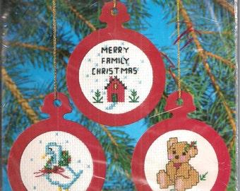 Vintage Christmas Ornament Cross Stitch Kit  NIP