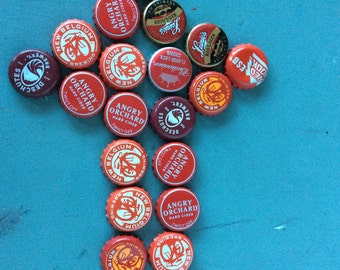 8 oz RED Bottle Caps - FREE SHIPPING