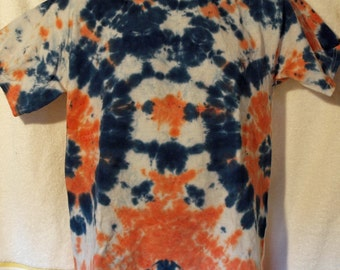 Tie Dye T-Shirt - Blue and Orange - Size XL
