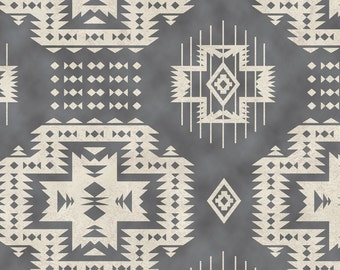 Grey Southwestern Blanket