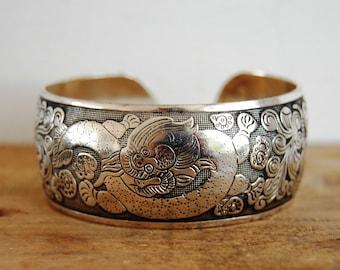 On = on (mega marked down) FAIRTRADE Tibetan Silver Dragon bangle bracelet