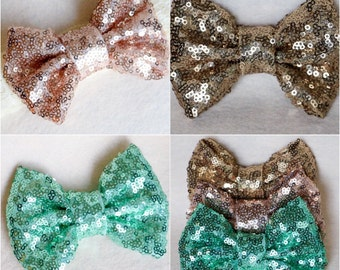 Large Sequin Hair Bow