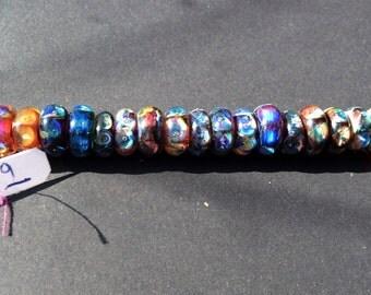 "Borosilicate ""Nebula"" Glitter Bead Strand--36 count"