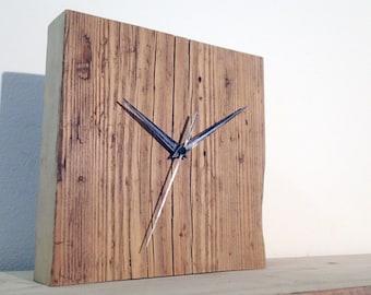 Wooden clock. Wood clock.