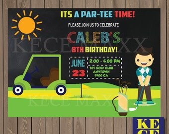 Golf Birthday Invitation,Golf Birthday Party,Golf Party,Golf Party Theme,Golf Birthday Theme,Golf Boys,Boy Golf Theme,Kids Birthday Party