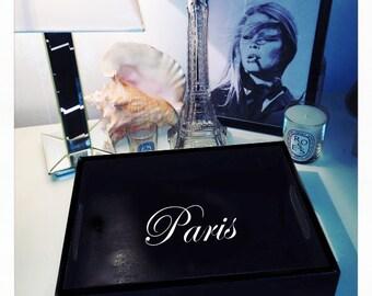 Black 'Paris' Tray