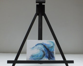 Stormy Waves Series One (7) - Oil Pastel Painting