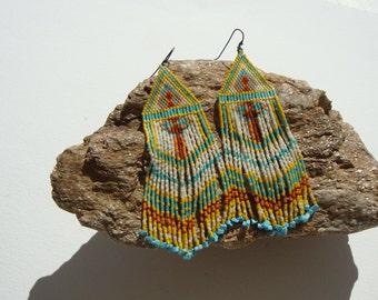 Earrings style navajo, Native American Indian, gipsy, Bohemia