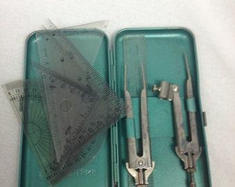 Vintage Apex Set No 8 Mathematical Instruments Set