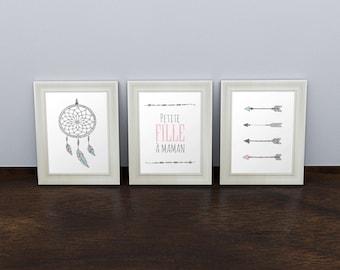 Trio posters boho arrows dream sensor