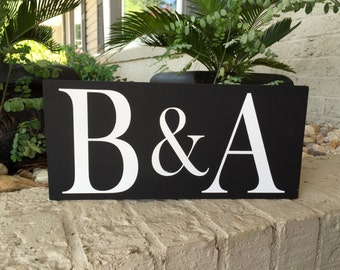 Two Initial Letter Wood Sign