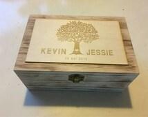 Personalised Wedding well ~ wishing well alternative~  Guest book alternative ~ Glory box ~ wishing well ~ rustic wedding wood chest ~