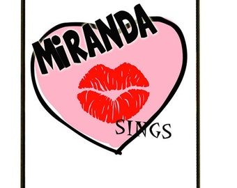 MIRANDA SINGS HEART iPhone case