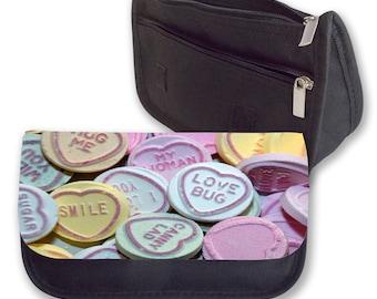 Love hearts Pencil case/ make up bag