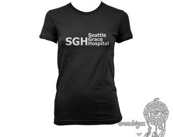 SGH Seattle Grace Hospital printed on Women tee