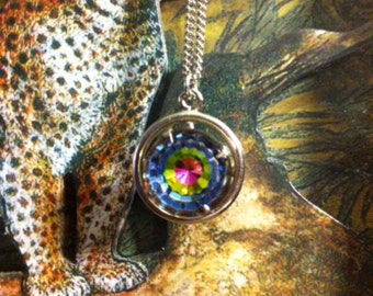 "Vintage Sarah Coventry ""Over the Rainbow"" Pendant Necklace"