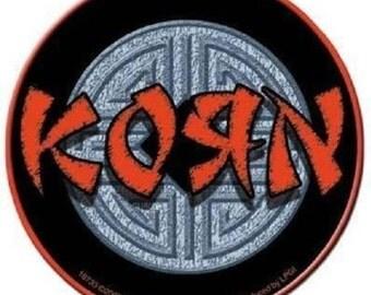 Rare Vintage Korn Asian Ball Davis Munky Fieldy Head Vinyl Bumper Sticker-New!