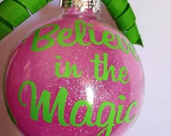 Pink & Green Christmas Ornament