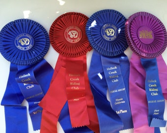 Horse Show First Place Prize Ribbons Lot of 4