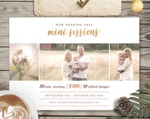 Fall Family Mini Session Template for Photographer, Mini Session Marketing Flyer, Holiday Mini Session Template - INSTANT DOWNLOAD - MS007