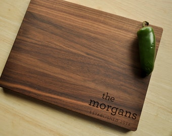 Personalized Cutting Board - Engrave Cutting Board, Custom Personalized Wedding Gift, Housewarming Gift, Anniversary, Christmas Gift, Walnut