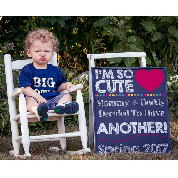2nd Pregnancy Announcement Pregnancy Chalkboard Sign Baby