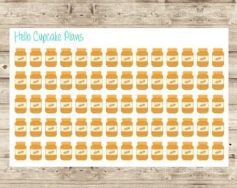 Cute Peanut Butter Planner Stickers