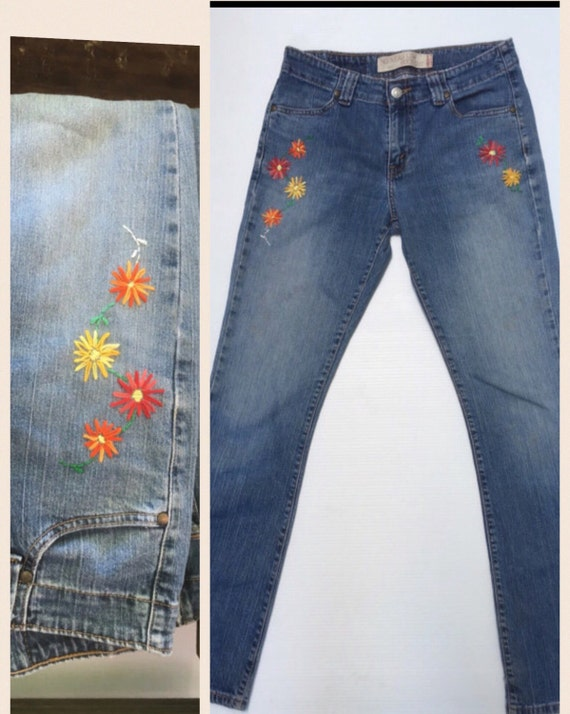 Jeans embroidered size levi by