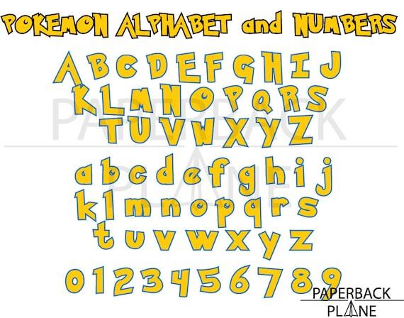 Pokemon Go Alphabet Letter Numbers Svg
