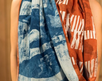 Shawl silk, cotton and hemp
